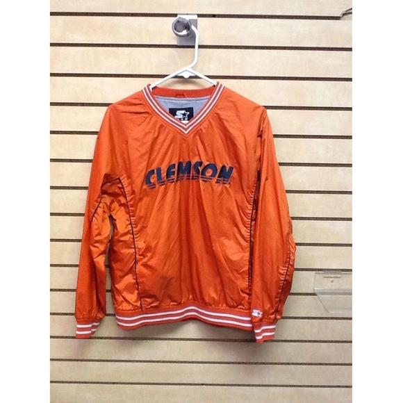 276cd1b5 Clemson Team Starter Youth Xl 16/18 Orange Jacket